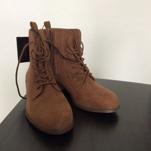 Lace Up Booties NWT